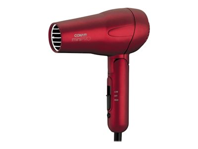 Conair miniPRO 263SR Hairdryer red metallic