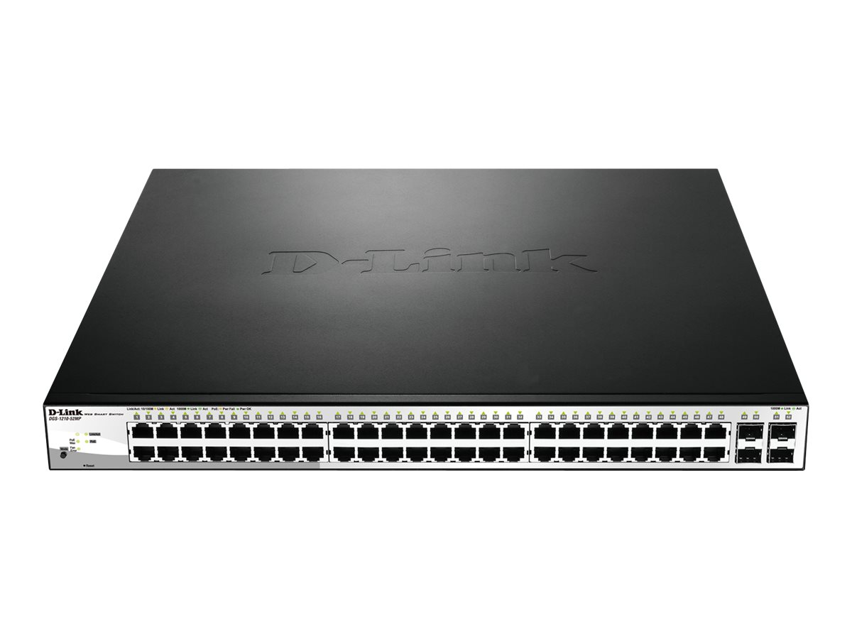 D-Link Web Smart DGS-1210-52MP - switch - 52 ports - managed - rack-mountable