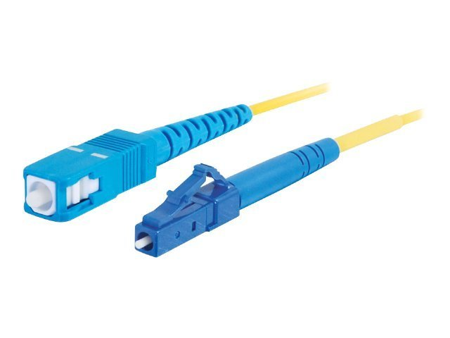 C2G 8m LC-SC 9/125 Simplex Single Mode OS2 Fiber Cable - LSZH - Yellow - 26ft - patch cable - 8 m - yellow