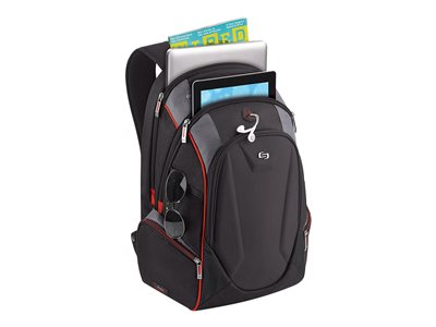SOLO Launch Notebook carrying backpack 17.3INCH black, red