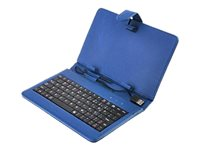 Worry Free Gadgets Keyboard and folio case USB black