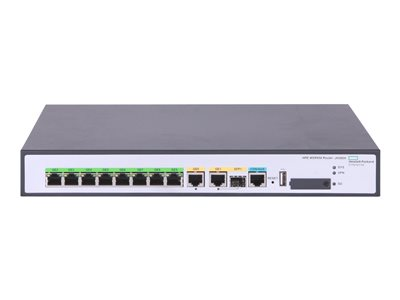 HPE FlexNetwork MSR958 Router 8-port switch GigE WAN ports: 2 rack-mountable -