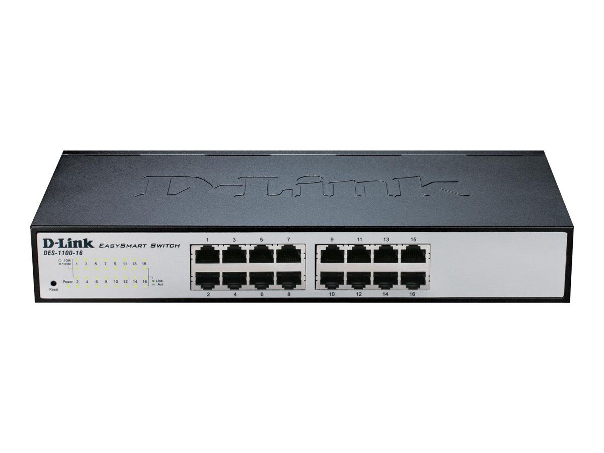 D-Link EasySmart Switch DES-1100-16 - switch - 16 ports - unmanaged