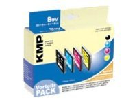 KMP B9V - 4er-Pack - Schwarz, Gelb, Cyan, Magenta - Tintenpatrone (Alternative zu: Brother LC1000BK, Brother LC1000m, Brother LC1000Y, Brother LC1000C) - für Brother DCP-330, 350, 357, 560, 75