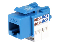 StarTech.com Cat6 Cable - Cat6 Keystone Jack - 110 Type Universal - Blue - Ethernet Network Cable (C6KEY110BL)