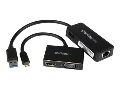 StarTech.com 2-in-1 Accessory Kit for Surface and Surface Pro 4 mDP to HDMI / VGA USB 3.0 GbE