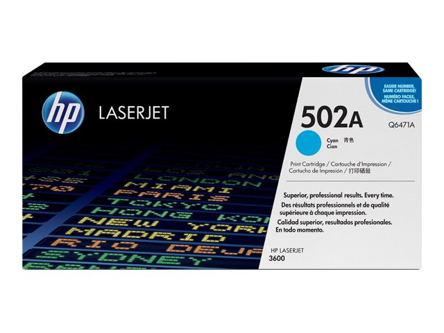 HP 502A - cyan - original - LaserJet - toner cartridge (Q6471A)