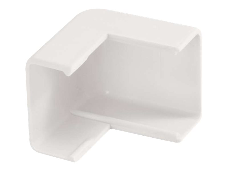 C2G Wiremold Uniduct 2700 External Elbow - White - cable raceway outside corner