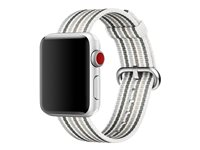 Apple 38mm Woven Nylon Band - Bracelet de montre - 125 - 195 mm - rayures grises - pour Watch (38 mm)