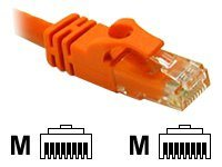 C2G 5ft Cat6 Snagless Unshielded (UTP) Network Crossover Patch Cable Orange - crossover cable - 1.52 m - orange