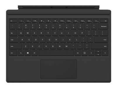 Microsoft Surface Pro Type Cover (M1725) - Keyboard - with trackpad, accelerometer - British - black - commercial - for Surface Pro (Mid 2017), Pro 3, Pro 4