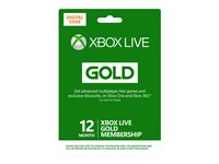 Microsoft Xbox Live Gold Membership - Subscription card (1 year)