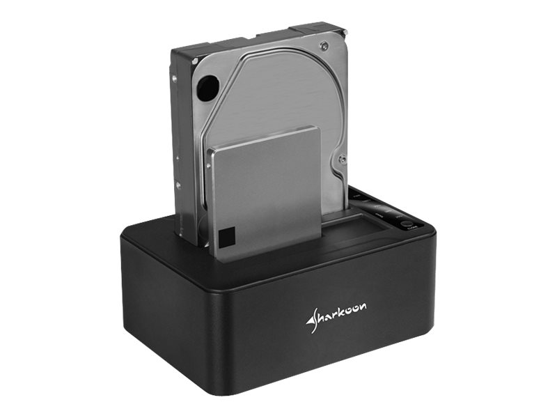 Sharkoon QuickPort Duo - HDD-Dockingstation mit Klon-Funktion - Buchten: 2 - 2,5