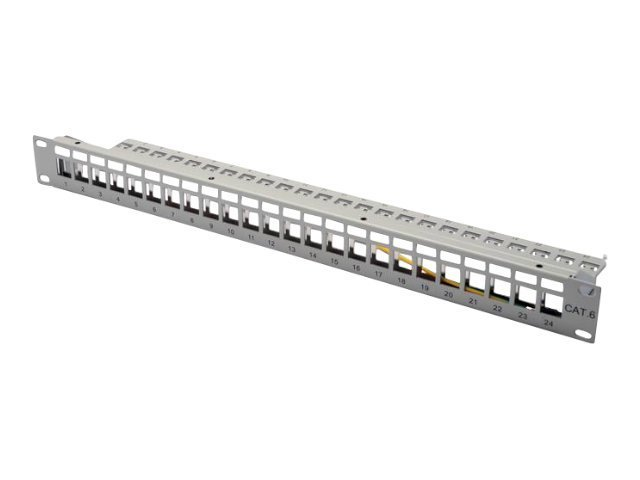 DIGITUS Professional DN-91410 - Patch Panel - RJ-45 X 24 - RAL 7035 - 1U - 48.3 cm (19