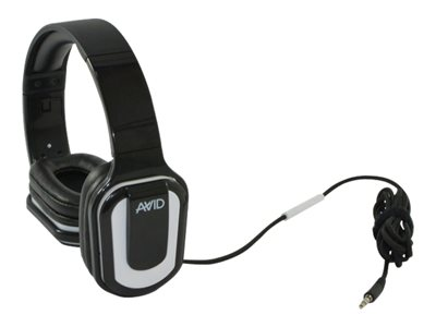 AVID AE-66 Headphones with mic full size wired 3.5 mm jack white (pack