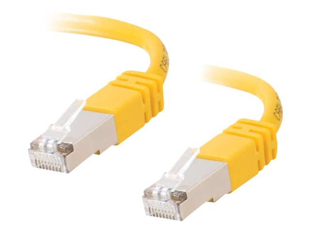 Image of C2G Cat5e Booted Shielded (STP) Network Patch Cable - patch cable - 15 m - yellow