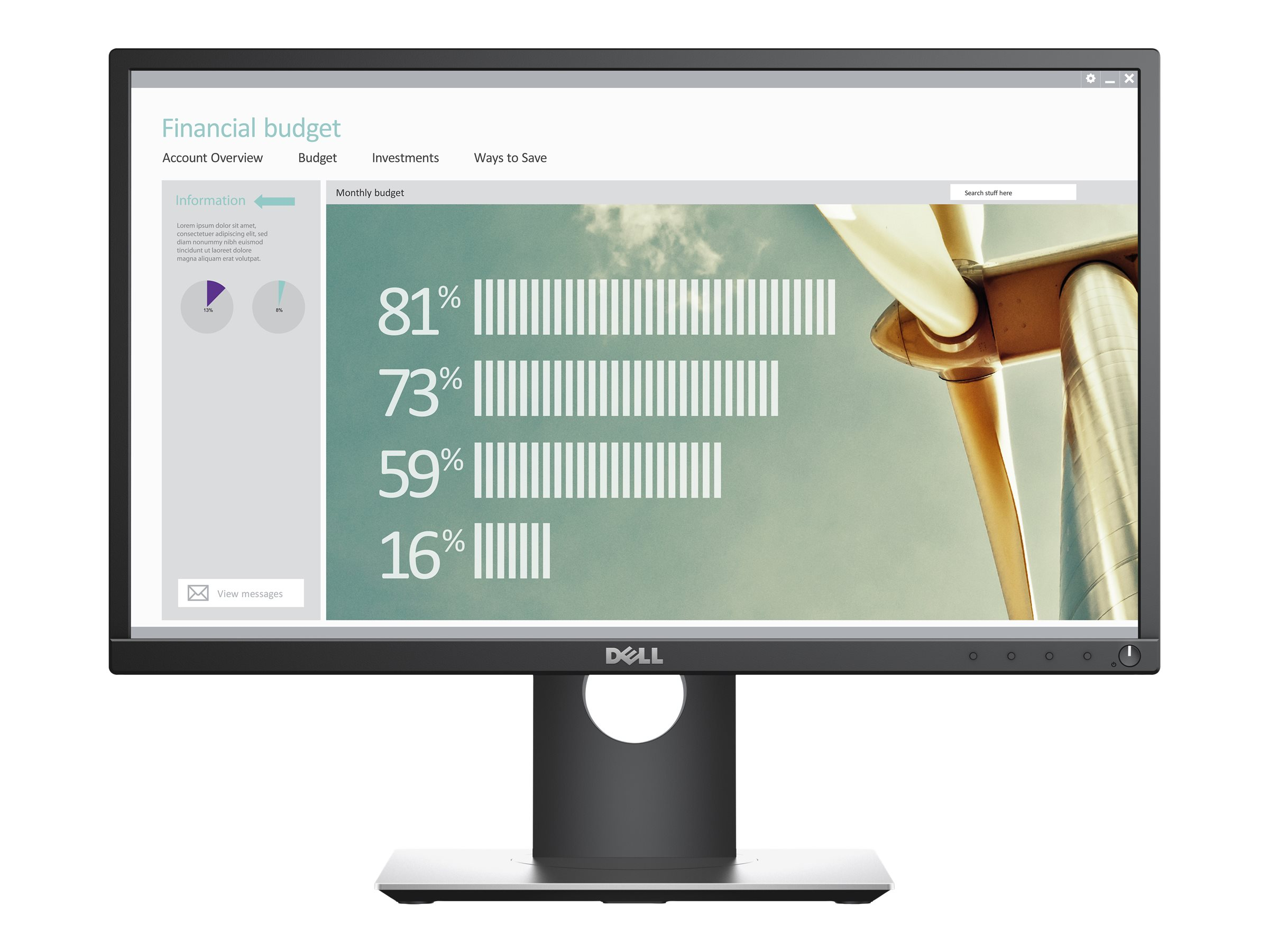 Dell P2217H - LED-Monitor - 55.9 cm (22