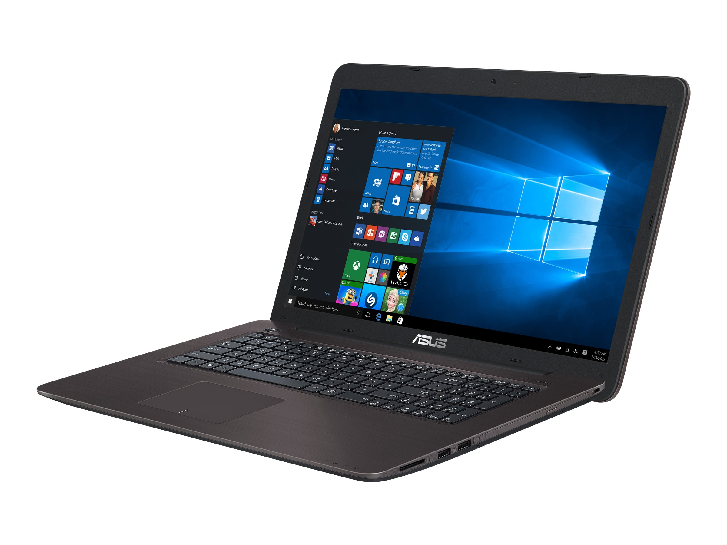 ASUS X756UQ TY193T - Core i5 7200U / 2.5 GHz - Win 10 Home 64-Bit - 8 GB RAM - 1 TB HDD - DVD SuperMulti