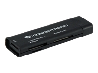 Conceptronic Travel Multi Card Reader USB 3.0 CMULTITRVU3 - Kartenleser (MS, MS PRO, MMC, SD, MS Duo, MS PRO Duo, miniSD, RS-MMC, MMCmobile, microSD, ...