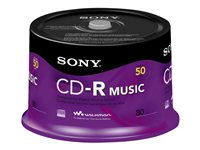 Sony CD-R Music CRM80RS 50 x CD-R (80min) spindle