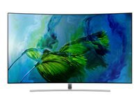 "Samsung QE75Q8CAMT - 75"" Class Q8C Series curved QLED TV - Smart TV - 4K UHD (2160p) 3840 x 2160 - HDR - local dimming, Quantum Dot technology, Supreme UHD dimming - sterling silver"
