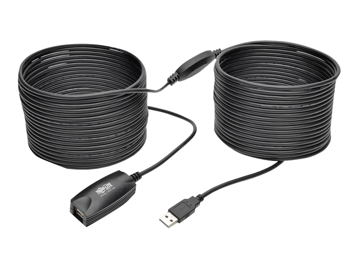 Tripp Lite 15M USB 2.0 Hi-Speed Active Extension Repeater Cable USB-A M/F 49 ft. - USB extension cable - 15 m