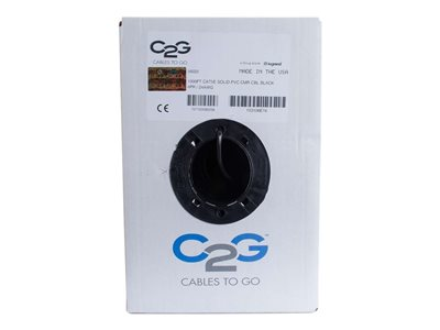 C2G Cat5e Bulk Unshielded (UTP) Network Cable with Solid Conductors Riser CMR-Rated