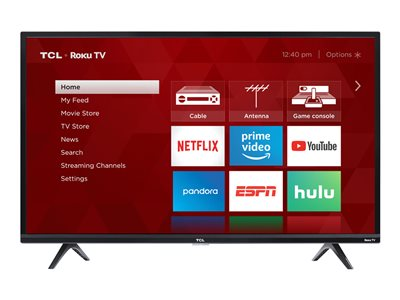 TCL 40S325 40INCH Class (39.5INCH viewable) 3-Series LED TV Smart TV Roku TV