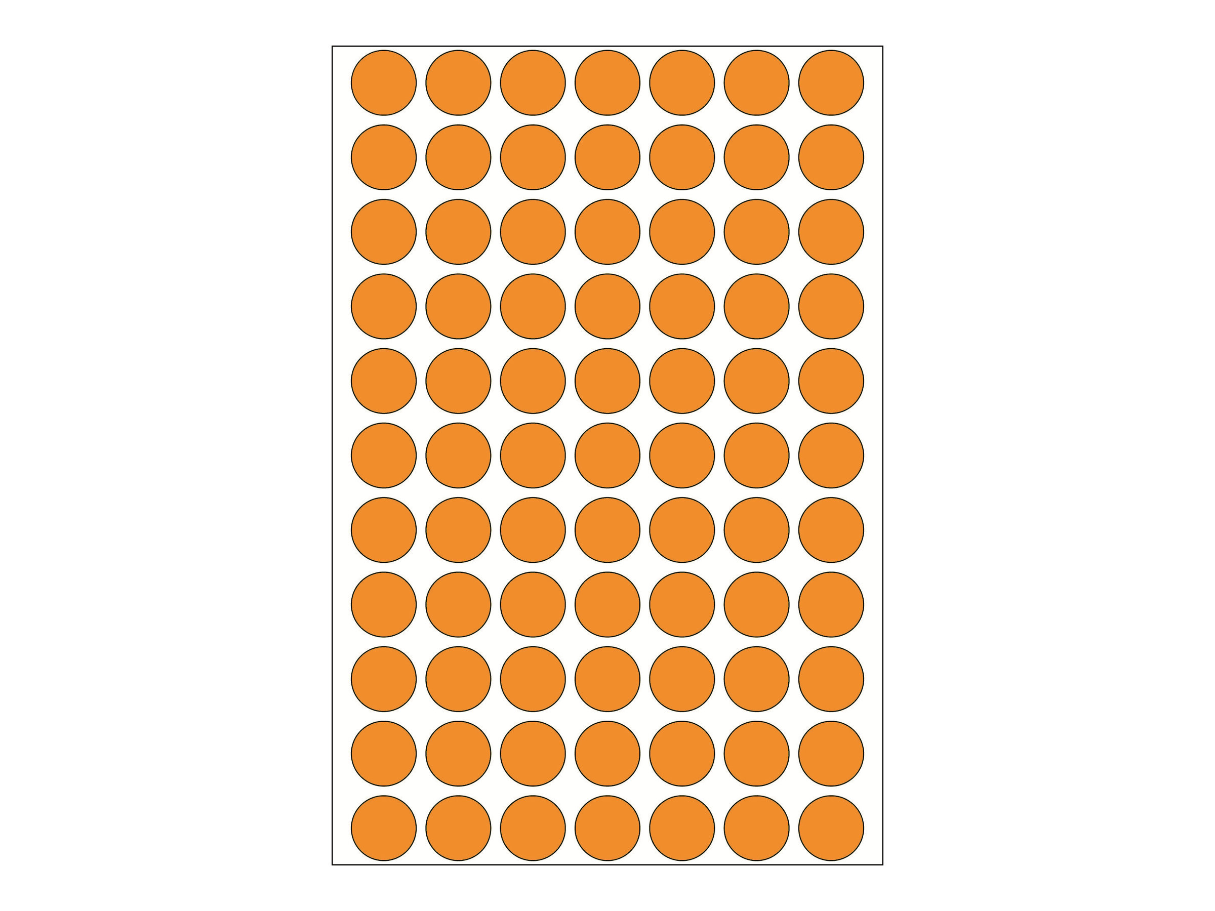 HERMA - Etiketten - permanent adhesive - Luminous Orange - 13 mm rund 1848 Etikett(en) (24 Bogen x 77)