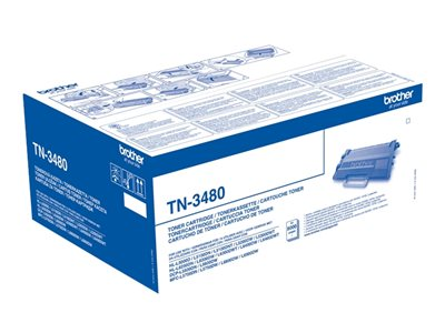 Toners Laser Brother TN3480 - à rendement élevé - noire - original - toner