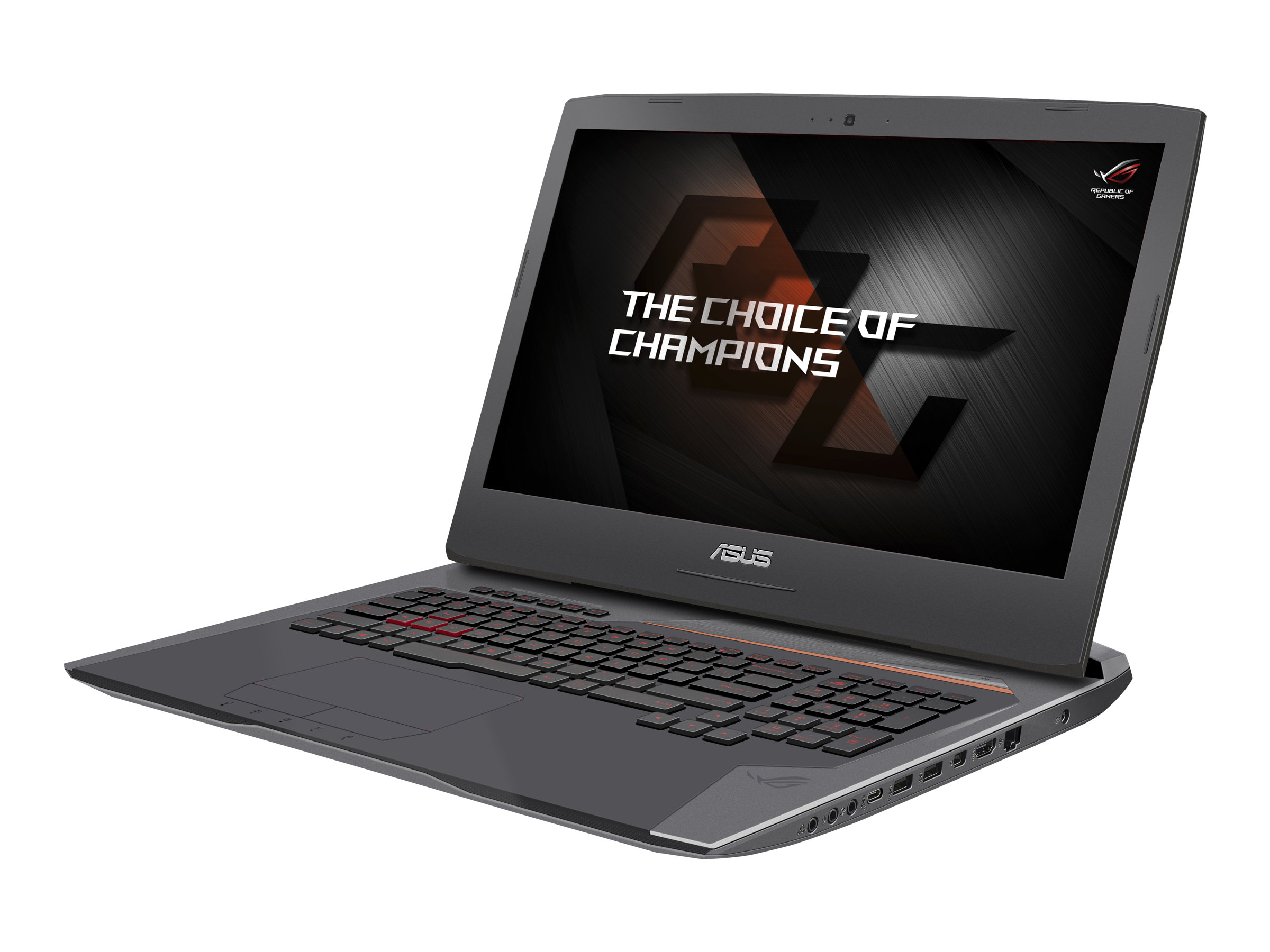 ASUS ROG G752VS GC074T - Core i7 6700HQ / 2.6 GHz - Win 10 Home 64-Bit - 32 GB RAM - 512 GB SSD NVMe (2x) + 1 TB HDD - DVD-Writer