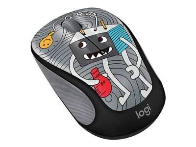 Logitech Doodle Collection M325c - mouse - 2 4 GHz - Lightbulb