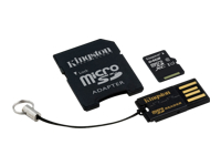 Kingston Multi-Kit / Mobility Kit - Flash memory card (microSDXC to SD adapter included) - 64 GB - UHS Class 1 / Class10 - microSDXC UHS-I - with USB Reader