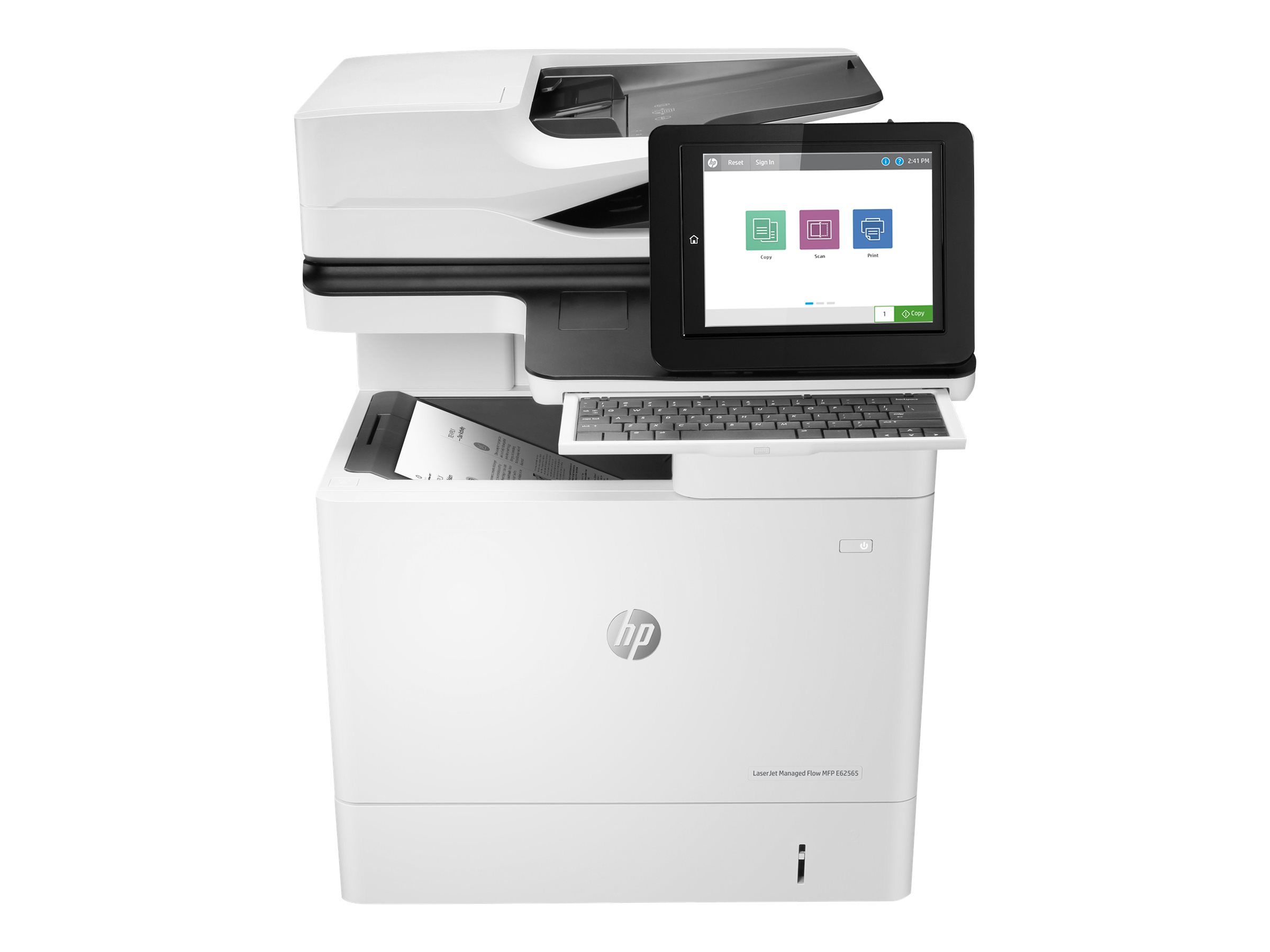 HP LaserJet Managed Flow MFP E62565h - multifunction printer (B/W) /  J8J74A#B19 / HP / Printers - Multifunction / Printing / Products /  Communications ...