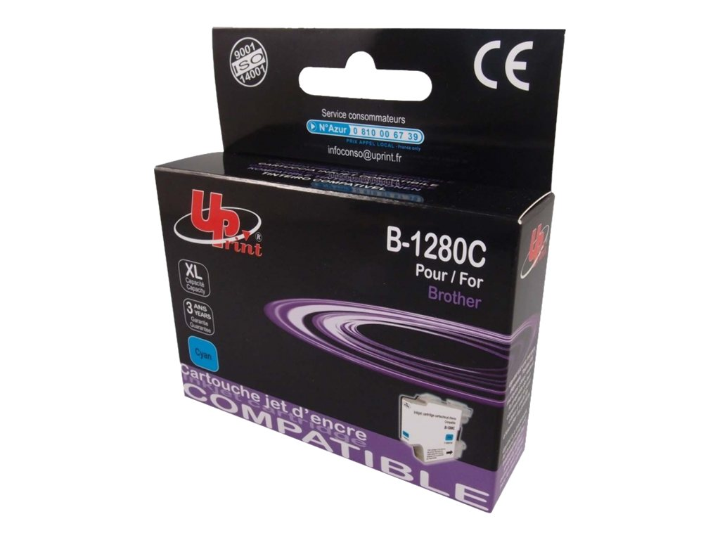 compatibles Brother  Brother LC1240/LC1280XL - compatible UPrint B.1280C - cyan - cartouche d'encre