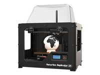 MakerBot Replicator 2X 3D printer FDM build size up to 9.69 in x 6.1 in x 5.98 in