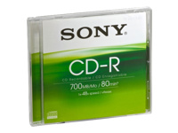 Sony CDQ80SJ - CD-R - 700 MB (80min) 48x - jewel case