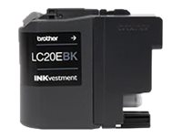 Brother LC-20EBK Super High Yield black original ink cartridge