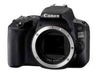 Canon EOS 200D - Digital camera - SLR - 24.2 MP - APS-C - 1080p / 60 fps - 3x optical zoom EF-S 18-55mm IS STM lens - Wi-Fi, Bluetooth, NFC - black