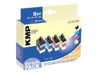 KMP B5V - 4er-Pack - Schwarz, Gelb, Cyan, Magenta - Tintenpatrone (Alternative zu: Brother LC900BK, Brother LC900C, Brother LC900M, Brother LC900Y) - für Brother DCP-115, 117, 120, 315, 340, M
