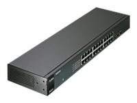 ZyXEL GS-1100-24 - Switch - unmanaged - 24 x 10/100/1000 + 2 x Gigabit SFP - rack-mountable
