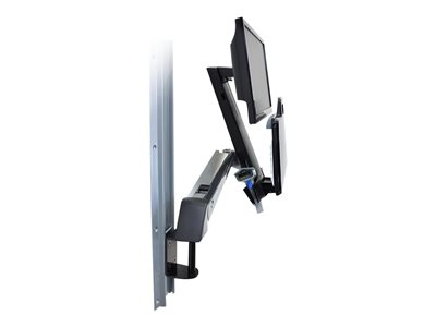 Ergotron StyleView Sit-Stand Combo System with Small CPU Holder