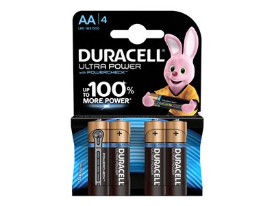 Piles & Chargeurs Duracell Ultra Power MX1500B4 batterie - 4 x type AA - Alcaline