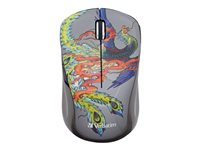 Verbatim Wireless Notebook Multi-Trac Blue LED Mouse Tattoo Series Phoenix Mouse 5 buttons