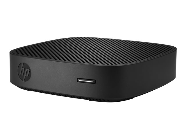HP t430 - Thin client - DTS - 1 x Celeron N4000 / 1.1 GHz - RAM 4 GB - flash - eMMC 32 GB - UHD Graphics 600 - GigE - Win 10 IoT Enterprise for Thin Clients - monitor: none - keyboard: Canadian French
