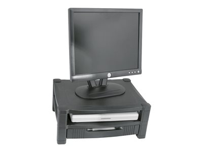 Kantek MS480 Two Tier with Drawer stand for monitor / notebook / printer / fax black