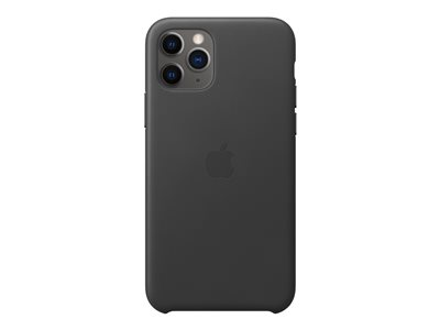 Apple - Back cover for cell phone - leather - black