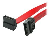 StarTech.com 18in SATA to Right Angle SATA Serial ATA Cable - SATA cable - Serial ATA 150/300/600 - SATA (R) to SATA (R) - 45.7 cm - right-angled connector - red - for P/N: PEXSATA24E, SATABAY5BK, SATATRAYBK, SATABAY3BK, SATABAY4BK, PCISATA4R1