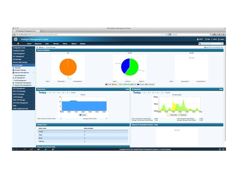 Intelligent Management Center Wireless Service Manager - license - 1000 additional access points