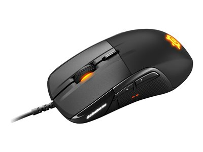 SteelSeries Rival 710 Optisk Kabling Sort